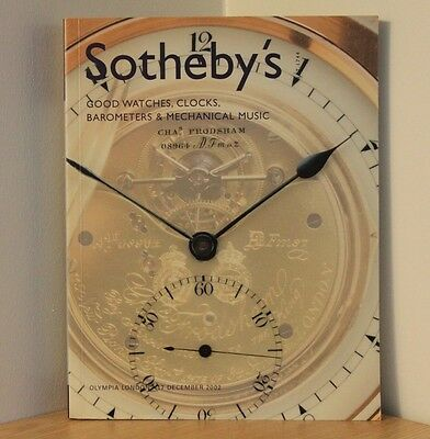SOTHEBYS AUCTION CATALOGUE - London 2002 - Watches Clocks Barometers - Antiques
