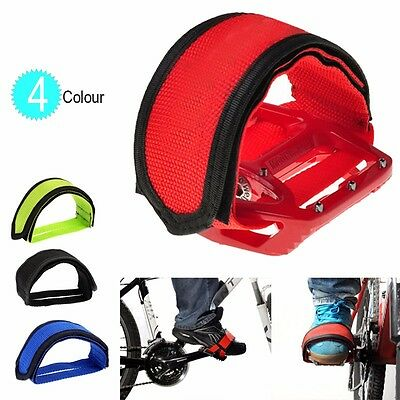 1 pair New Cycling Bike Anti-slip Bicycle Pedals Toe Clips Straps Fixie