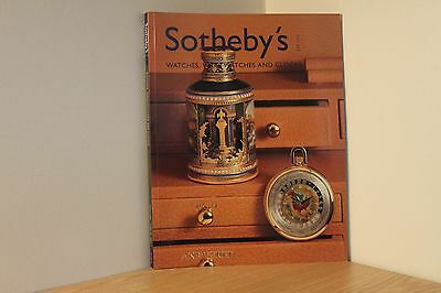 SOTHEBYS AUCTION CATALOGUE - NEW YORK 2001 - Watches & Wristwatches - Antiques