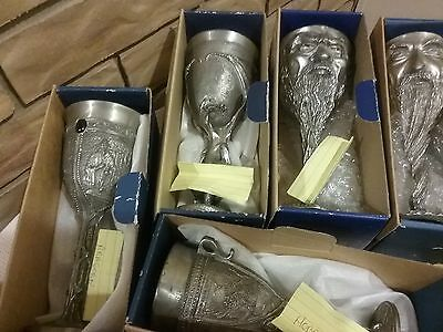 Lord Of Rings Pewter Goblet Set