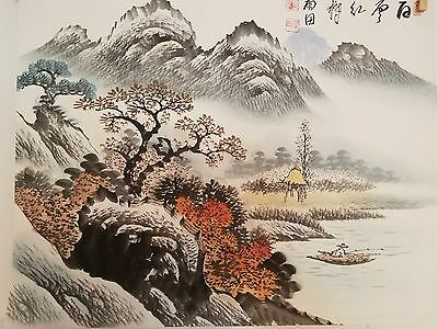 Korean Original Painting (landscape in fall)