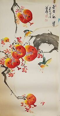 Korean original painting (pomergranates and birds)