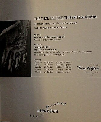 CHRISTIES CELEBRITY AUCTION CATALOGUE - NEW YORK 2000 -  Antiques - VERY RARE