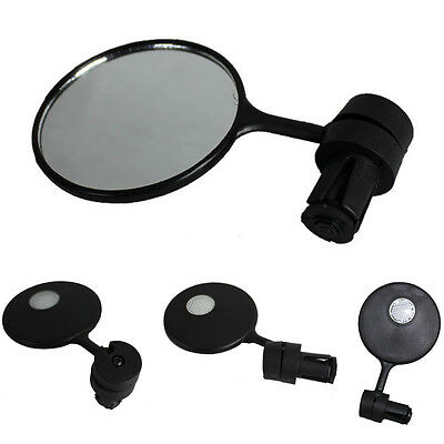 Rearview Bike Bicycle Cycling View Mirror Handlebar Glass Light Safety Hot