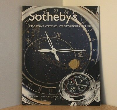 SOTHEBYS AUCTION CATALOGUE - NEW YORK 2002 - CLOCKS & WATCHES - Antiques