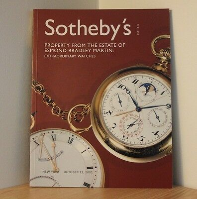 SOTHEBYS AUCTION CATALOGUE - NEW YORK 2002 - Extraordinary Watches - Antiques