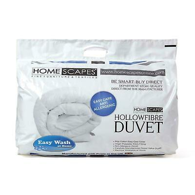 Hollowfibre Duvets Single, Double, King, Super King 4.5 10.5 13.5 Tog Quilts