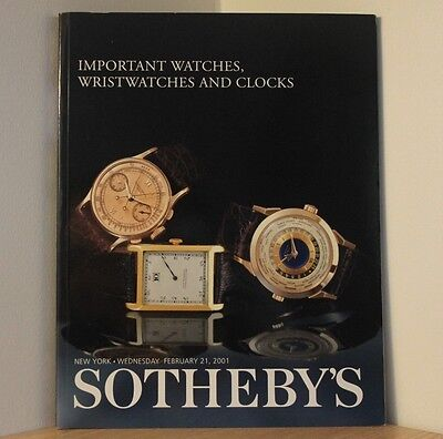 SOTHEBYS AUCTION CATALOGUE - NEW YORK 2001 - Watches & Clocks - Antiques