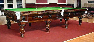 Antique Snooker Table - Extremely Rare, One Of The Finest Surviving In Existence