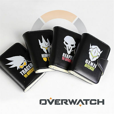 OW overwatch Cosplay Mens/Womens Purse Wallet Short Pocket Hand Wallet Card Bag