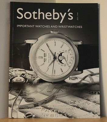 SOTHEBYS AUCTION CATALOGUE - GENEVA 2002 - Watches & Wristwatches - Antiques