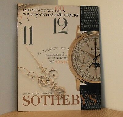 SOTHEBYS AUCTION CATALOGUE - GENEVA 2001 - Watches & Clocks - Antiques