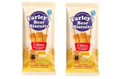 Farley's 7+ Months Bear Biscuits 5 Pack first biscuit for your baby