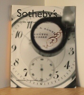 SOTHEBYS AUCTION CATALOGUE - AMSTERDAM 2002 - Clocks & Watches - Antiques