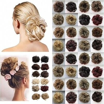 Koko LG Synthetic Hair Scrunchie All Colour Shades Scrunchies Large Updo Piece