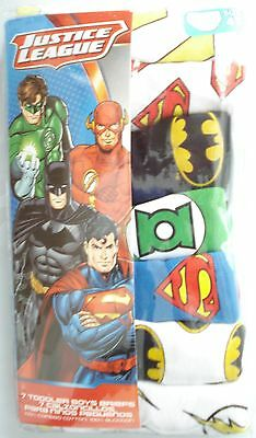 NEW Handcraft JUSTICE LEAGUE 7-pack Toddler Boys Briefs Size 4T