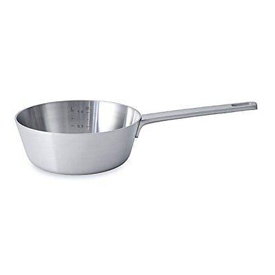 BergHOFF Ron Conical 5-Ply Induction-Safe Brushed Stainless Steel Saucepan, 18cm