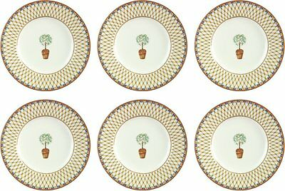 JOHNSON BROS/TESCO LEMON TREE 6 x DESSERT PLATES 20cm (seconds) BRAND NEW