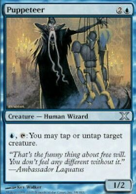 4x MTG: Puppeteer - Blue Uncommon - 10th Edition - 10E - Magic Card