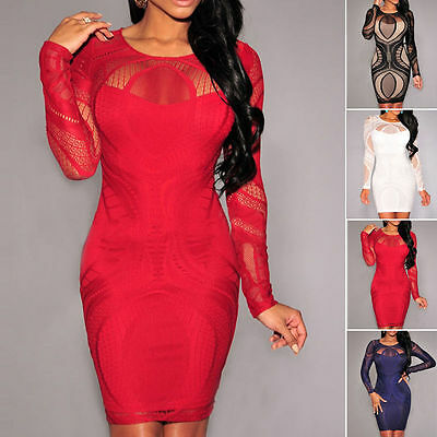Women Sexy Bodycon Bandage Party Cocktail Club Evening Cocktail Short Mini Dress