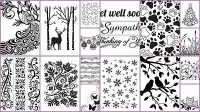 "DARICE EMBOSSING FOLDER A6 4.25"" X 5.75"" MANY DESIGNS UNIVERSAL FIT SIZZIX etc"