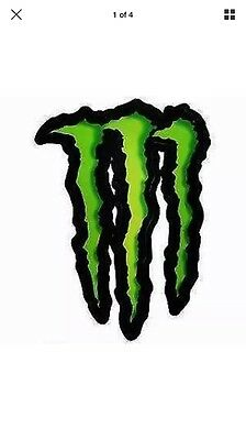 "One Monster Energy Drink 4.10"" Green Claw Sticker. Authentic New Sticker"