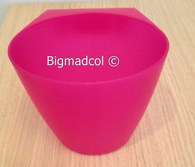 Ikea Bygel Plastic Storage Pots Container holder for rail New Translucent PINK