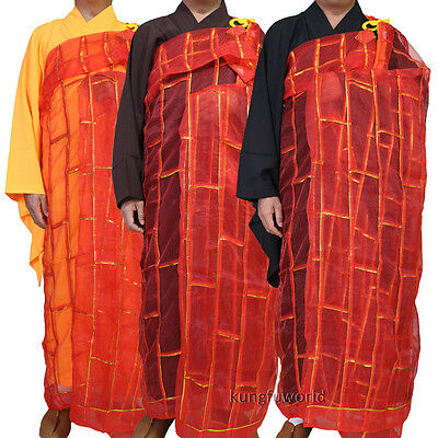 Shaolin Buddhist Monk Dress Kesa Priest Robe Cassock Meditation Kung fu Suit