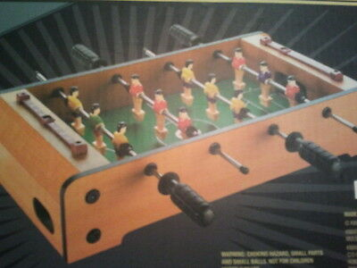 New table top soccer football game or foosball game
