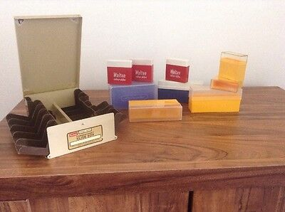 Yellow  Kodak Photographic Slide Storage Boxes for 35mm slides