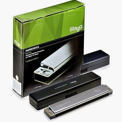 NEW Stagg Tremolo Diatonic Harmonica in C major Free P&P [EU stock]