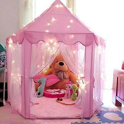 Play Tent Princess Castle Pink Playhouse Kids Toddler Indoor Outdoor Toys New