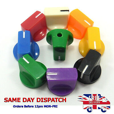 8 Color Plastic Potentiometer Pedal Knob KN-19 6mm Dia Threaded Shaft Screw Cap