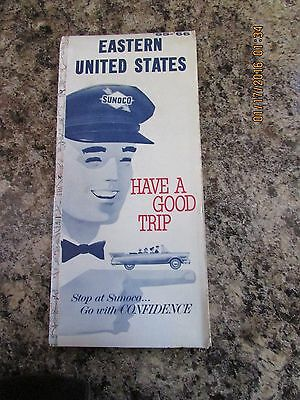 Vintage 1965-66 SUNOCO EASTERN UNITED STATES Gas Service Station Road Map