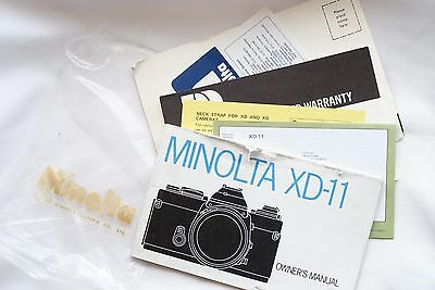 Minolta  Xd-11  Camera Manual  Good