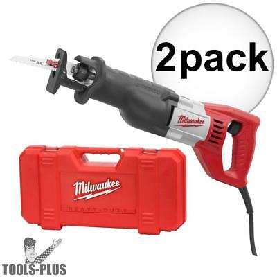 "2pk Sawzall Recip 1-1/8"" Stroke,12 Amp, 0-3,000 SPM Kit Milwaukee 6519-31 New"