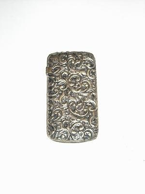 Antique Victorian Silverplated Vesta Case or Match Safe