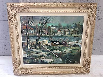20th Century Swedish Oil Painting On Board.