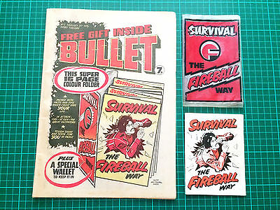 BULLET Comic # 2 With Rare Free Gift. Survival Guide Date 21/02/1976