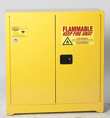 30 Gallon Flammable Storage Cabinet, Manual Close Doors, Eagle 1932