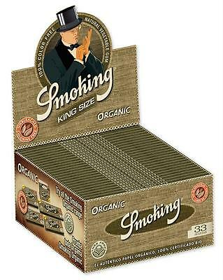 Smoking Organic King Size KS Papers Zigarettenpapier Box SMK Rolling Paper Slim