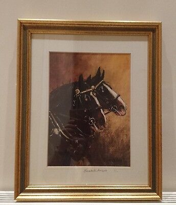 Limited Edition Print of Portrait Study of 2 Horses by Elisabeth Ansell 3/10