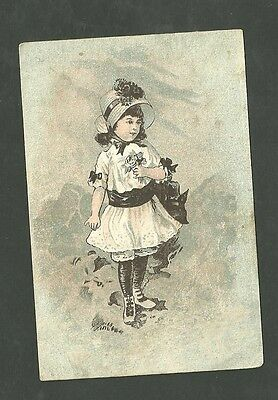 1880's Trade Card First Class Footwear at James Rothschilds Boot & Show Store
