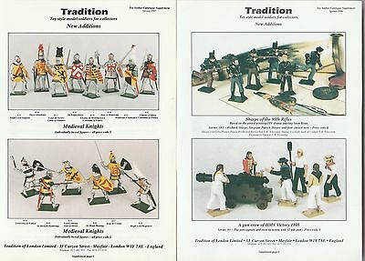 TRADITION Toy Soldier Catalog Supplements MEDIEVAL KNIGHTS French Marines