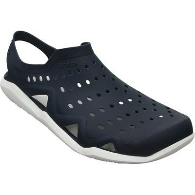 Crocs Swiftwater Wave Casual Shoes - Mens, Nvy/Wht, M7