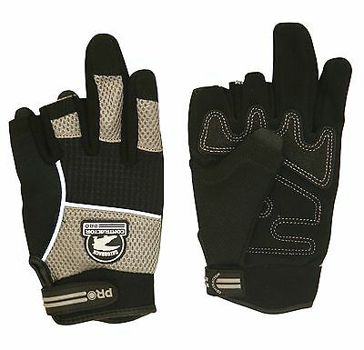 Gatorback 633 Fingerless Work Gloves. For Electricians, Carpenters, Framers