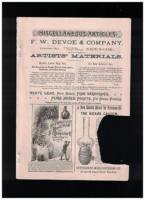 1885 The Hayward Hand Grenade Fire Extinguisher 1/4 Page Ad
