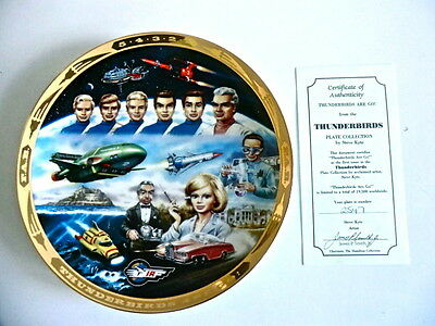1992 Limited Edition Thunderbirds Hamilton Plate By Steve Kyte With Certificate