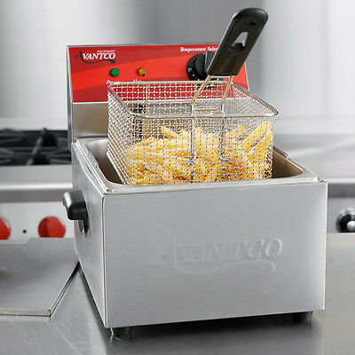 Avantco F100 10 lb Electric Countertop Deep Fryer Stainless Steel Commercial