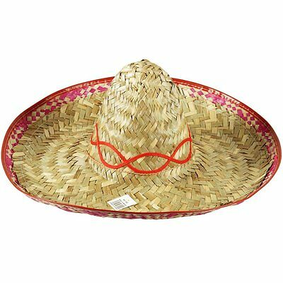 Mexican Straw Sombrero Hat Perfect For Fancy Dress Costumes